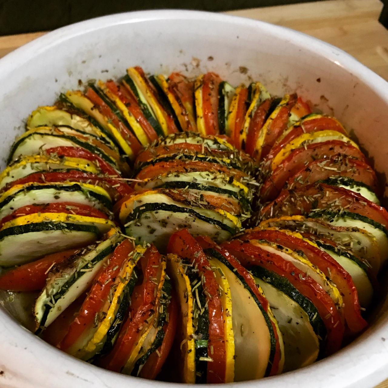 Mes recettes - Amélie diététicienne nutritionniste Avignon Sorgues Orange - Tian de courgettes et tomates