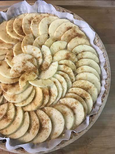 Tarte aux pommes sans pâte par Amélie diététicienne Sorgues